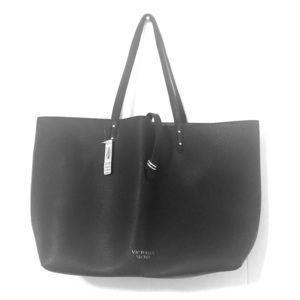 Victoria's Secret black tote bag red inside NWT